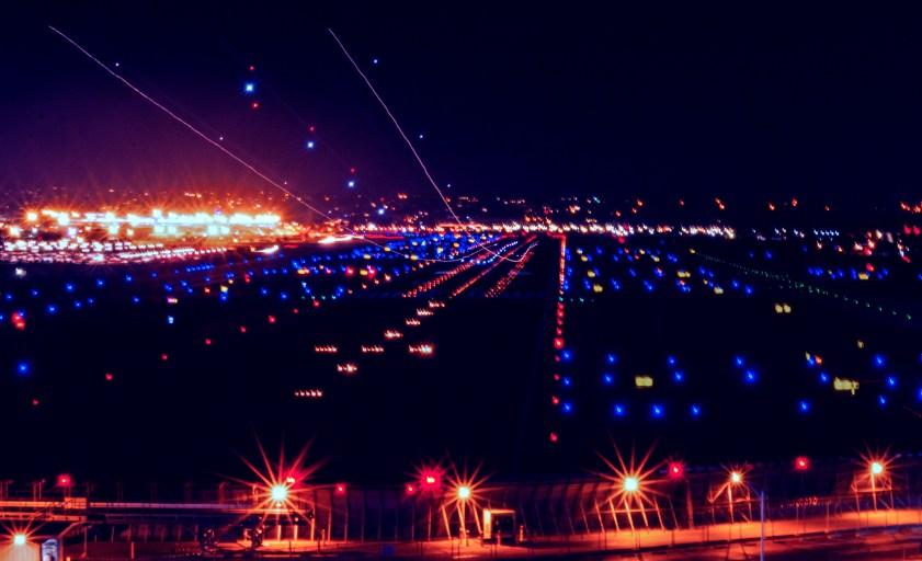 Credit Joseph A Lapin: Long Exposure of a plan landing