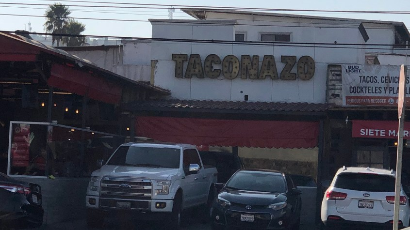 The Outside of Taconazo in Tijuana