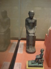 Statues of Imhotep in the Louvre