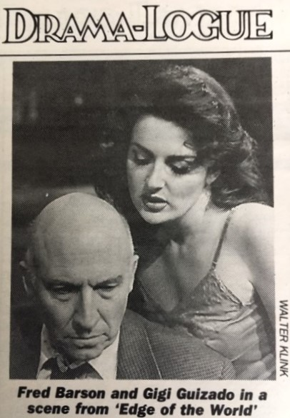 Fred Barson as Raymond Chandler & Gigi Guizado as Carmen Sternwood