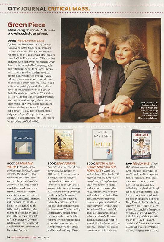 Boston Magazine Review