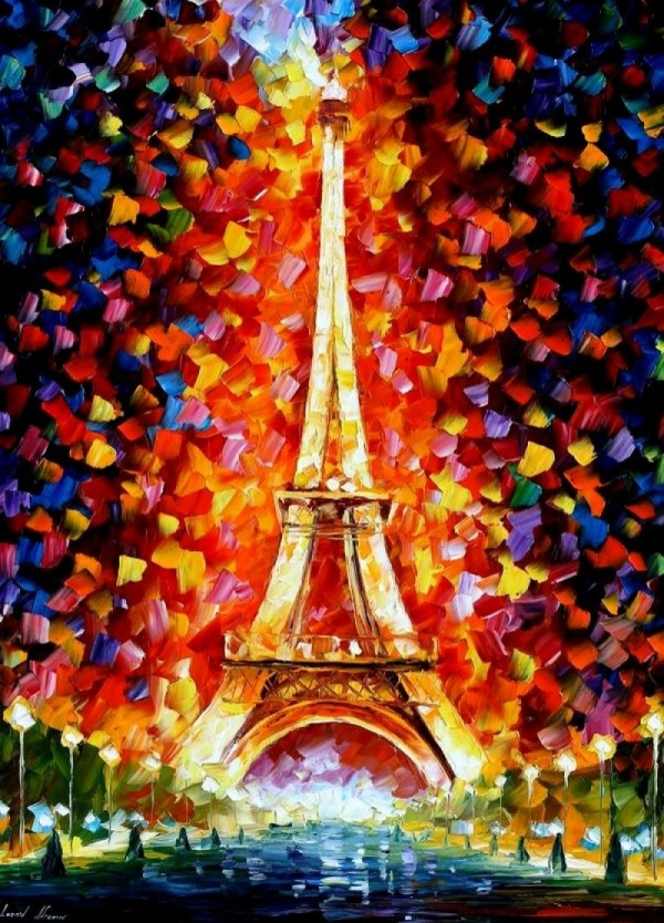 Eiffel Tower Paris Leonid Afremov Joseph Donaghy Art
