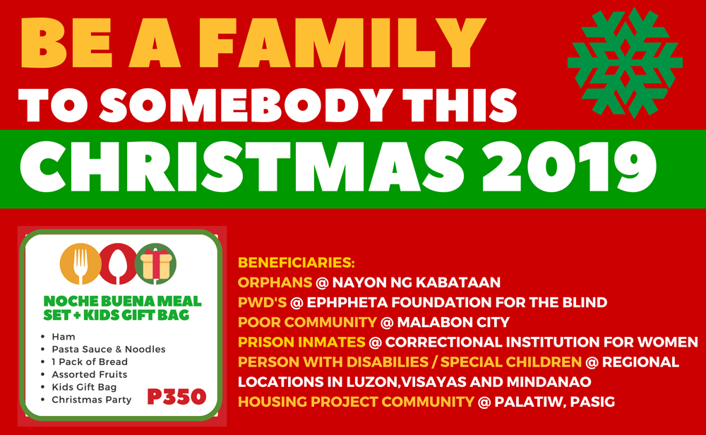 Be A Family Christmas Campaign 2019