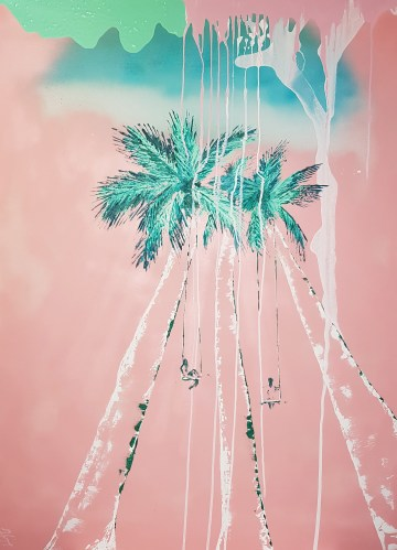 Palms &swings pink
