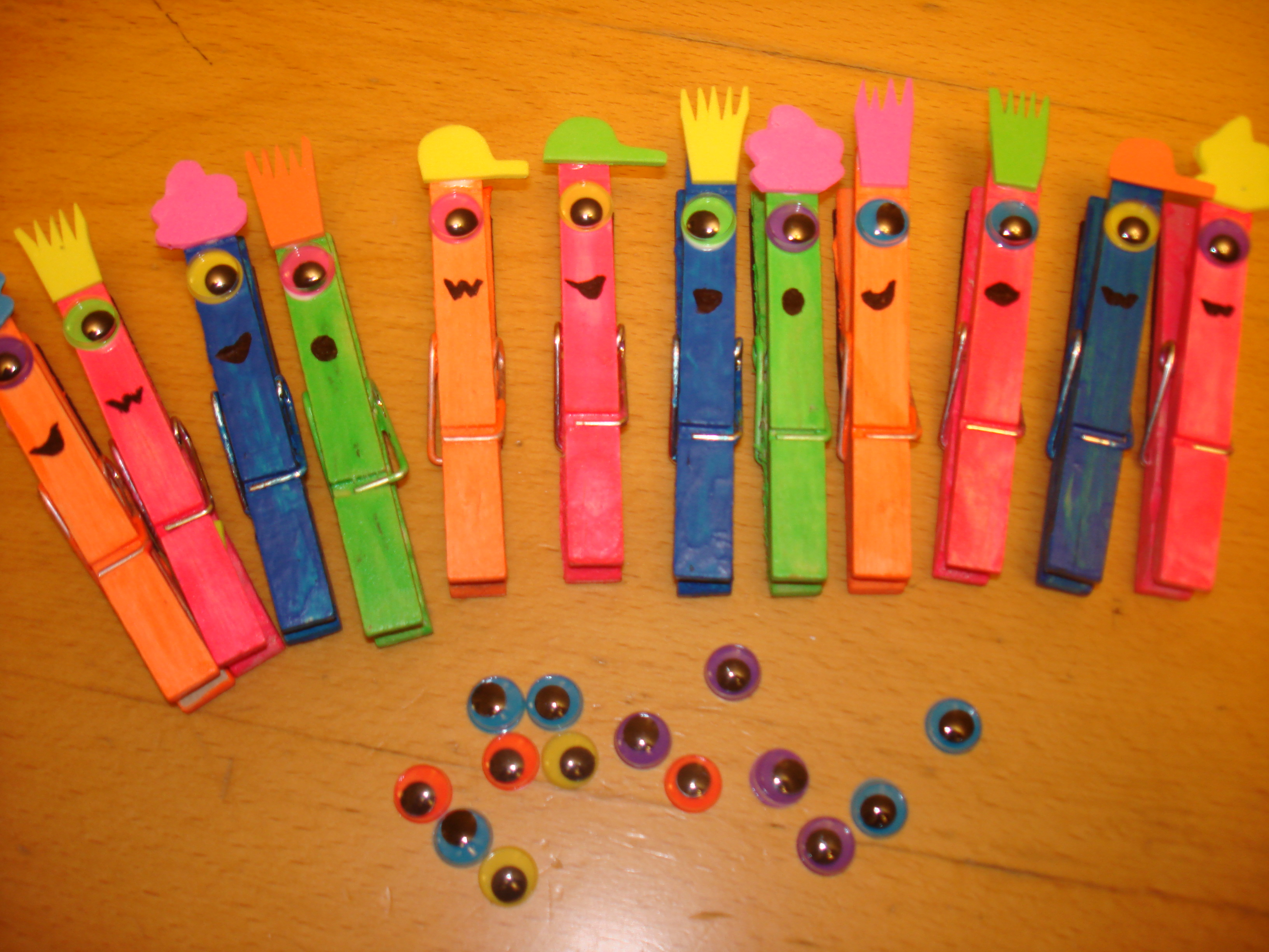 One Eyed Silly Monster Clothespin Magnet Josephine