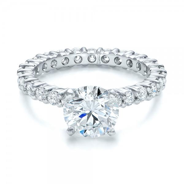 Custom Diamond Eternity Engagement Ring #102170
