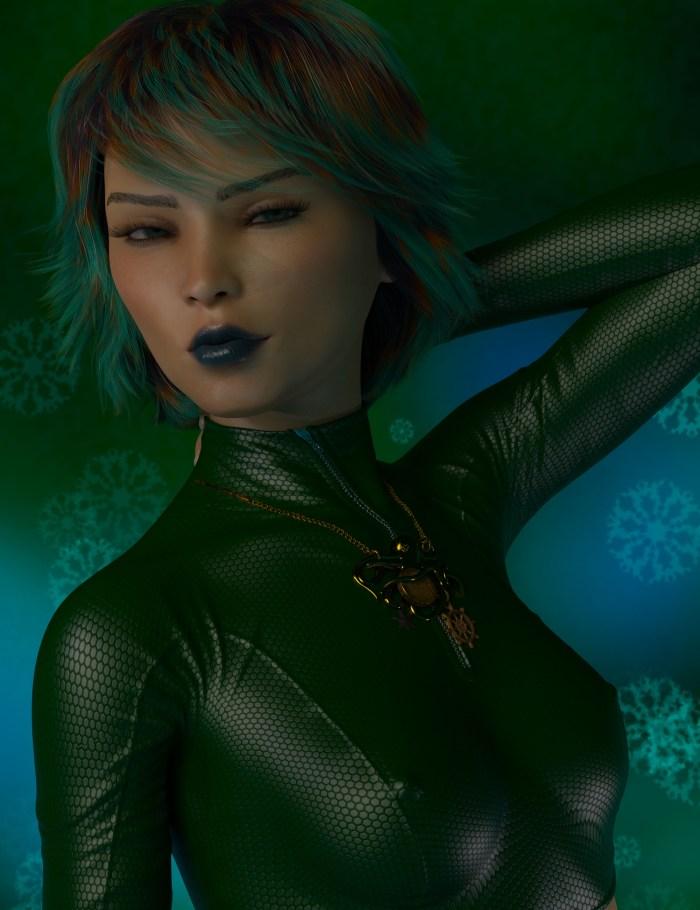 3DART :- Green Girl Going Green
