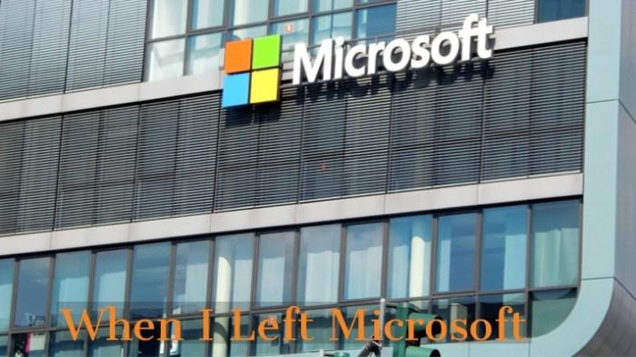 Left Microsoft
