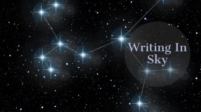 Writing In Sky