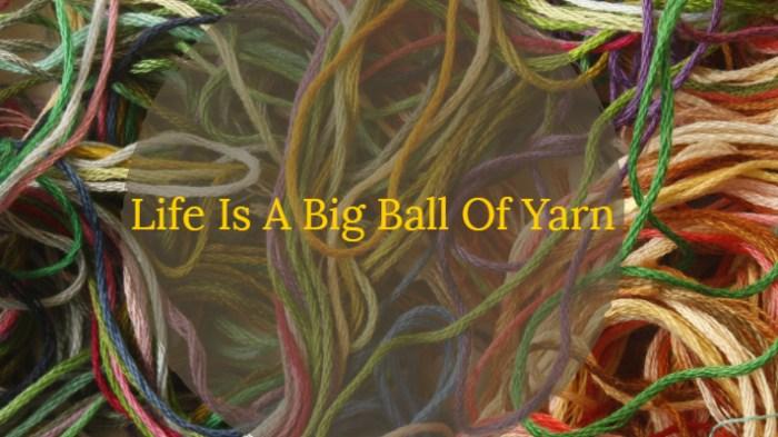 Life Is A Big Ball Of Yarn josephkravis.com