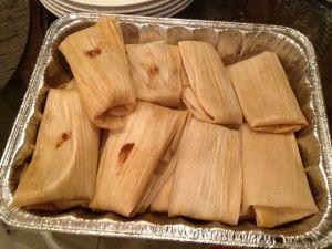 Rob's homemade tamales.  Always a winner.