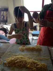 Painstaking work.  I refer, of course, to my picture-taking while Akemi sorts out the spaghettini.