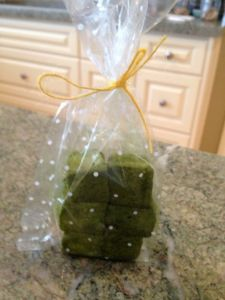 Akemi is a big fan of marshmallow desserts, so I picked up a bag of these matcha gimauve.  She eyed them suspiciously, took a small bite, slowly chewed - then popped the rest into her mouth.  And another.