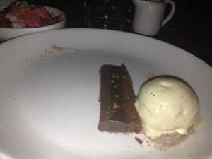 Bacon chocolate crunch bar with s&p ice cream