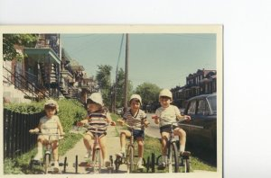 """The Wild Bunch.  Me, second one from the right  with what Akemi has coined """"chopsticks legs"""" - and Gilligan hat."""