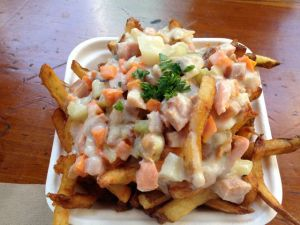 Clam chowder poutine.