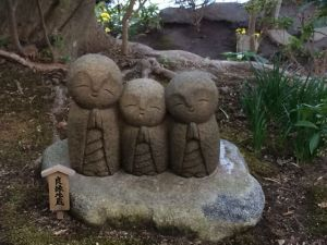 """Ojizo-osama.  According to Akemi """"Statues with different meanings.  Usually good luck thing I guess."""""""