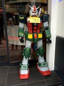 The doorman at the Gundam Cafe - Akihabara (Tokyo, Japan)