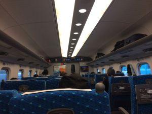 On the shinkasen, headed to Shin-Yokohama