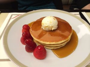 The breakfast place in the Imperial Hotel supposedly makes the best pancakes in Tokyo.
