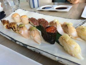 Sushi dinner at Miku Restaurant