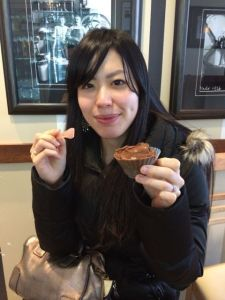 And, instead of birthday cake, Akemi opted for birthday gelato at Bella Gelateria.  Yes, it's that good!