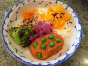 Jelly's Japanese-style meal.