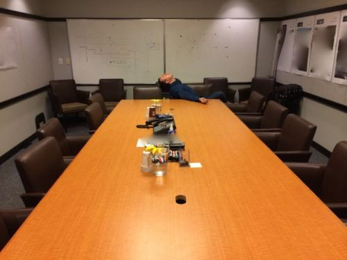 November 4, 2014: Uneasy Lies The Head That Wears The Crown – Unless The Art Department Meeting Runs Late In Which Case It Rests Just Fine On The Table While You Take A Little Nappy!