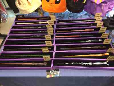 The Harry Potter wand collection.  I'll be honest.  I was tempted...