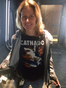 January 14, 2016: Cat Shirt Thursday On The Set Of Dark Matter Season 2!
