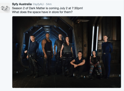 April 30, 2016: Bring Your Daughter To Work Day On Dark Matter!  And More Premiere Dates!