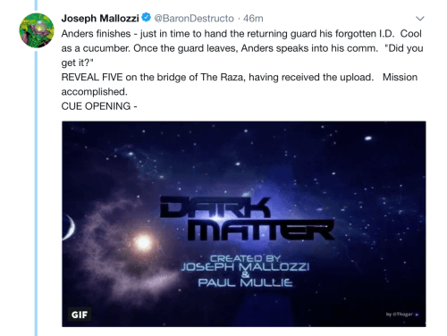 June 21, 2018: Dark Matter Virtual Season 4 – Episode 4.02!  Our Story Continues!