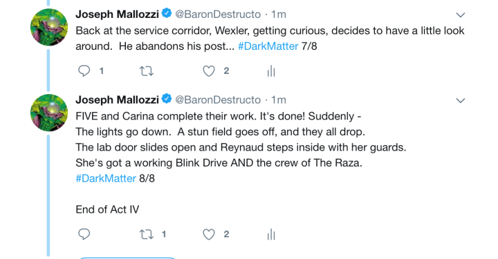 Dark Matter Virtual Season 4 – Episode 4.03, Act Iv!