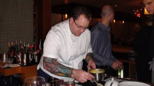 Rob puts the finishing touches on plating