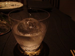 Shochu on the rocks.  And quite a rock it is!