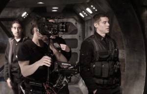 Random set pic.  Brian J. Smith IS Lieutenant Matthew Scott.