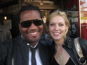 Check out the hot couple!  Actress Alaina Huffman (SGU's Lieutenant Tamara Johansen) and husband John.