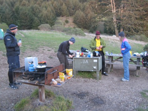 Cooking up a storm at Sky Camp.