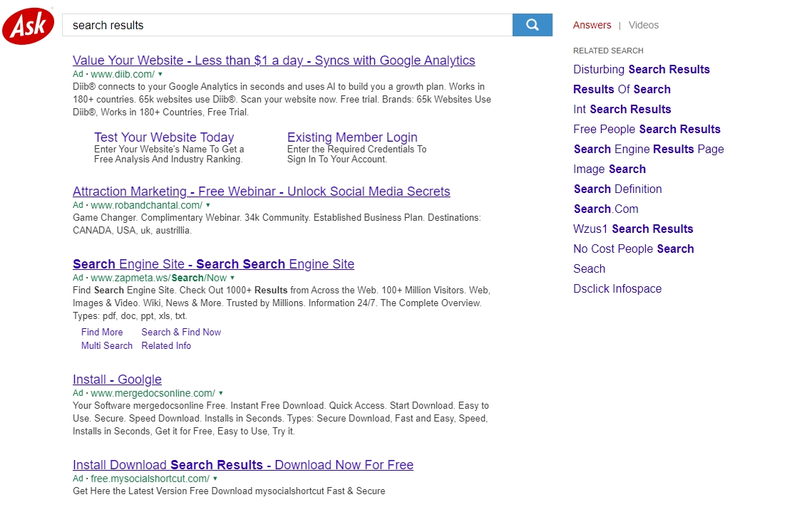 Ask Search Results