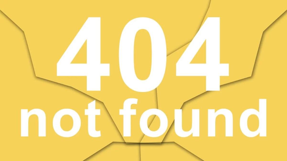 Error 404 Website Down