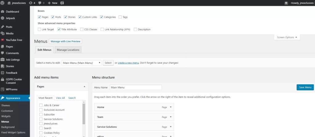 Adding Title Attribute in WordPress Navigation Menu