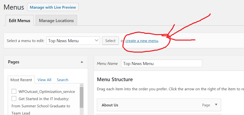 Title Attribute for WordPress Menu Bar
