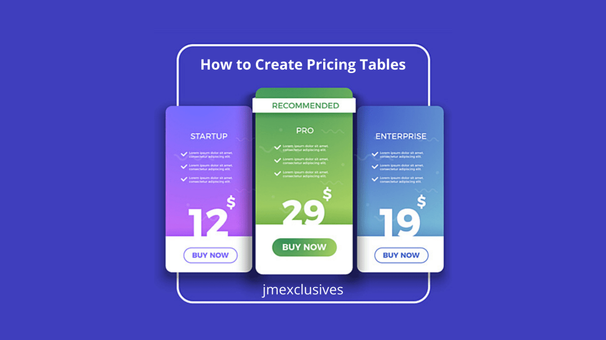 How to Create Pricing Tables in WordPress