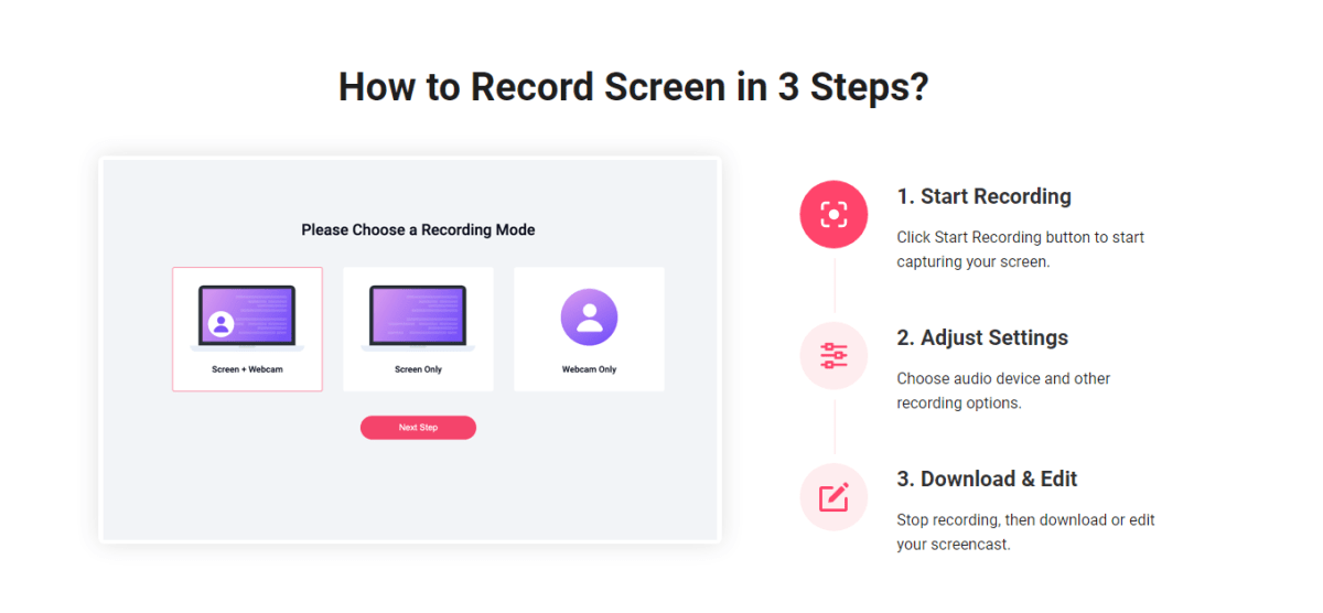 How to Record Screen in 3 Steps