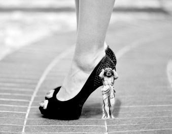 high heels calves