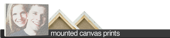 Text-o-graph Mounted Canvas Prints