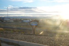 The village of Los Lunas, with a little too much lens flare