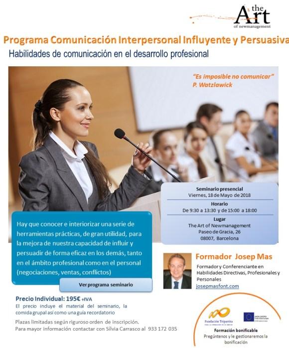 18 Mayo Programa Comunicacion Interpersonal Influyente y Persuasiva