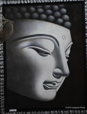 Buddha in black & white