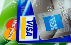 Diversas tarjetas de crédito.